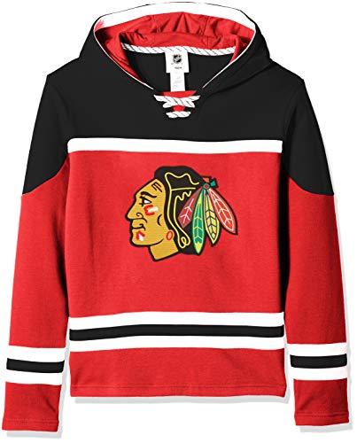 Outerstuff NHL by Jungen Kapuzenpullover Asset, Jungen, Asset Pullover Hockey Hoodie, rot, Youth X-Large(18)