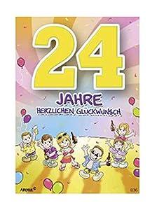 Depesche 5598.036Tarjeta de felicitación con diseño de Archie, 24. Cumpleaños