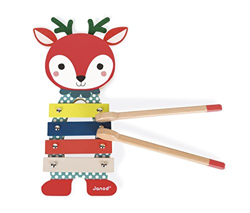 Janod J08012 - Baby Forest Xylophon Reh