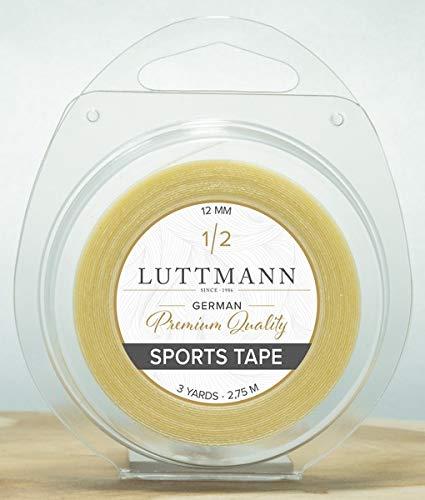 LUTTMANN Sports Tape - Klebeband 12 mm x 2,75 m für Perücken, Tüllansätze, Haarsysteme, Full Lace Wig , Haarteile & Extensions -