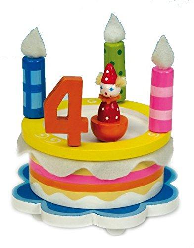 Spieluhr, Geburtstagstorte, mit Zahlen und Kerzen