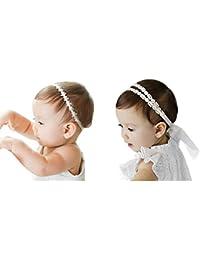 JMITHA 2 piezas Recién nacido y bebés del pelo de la venda elástico Bebé pelo diadema