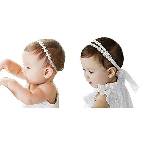 JMITHA 2 piezas Recién nacido y bebés del pelo de la venda elástico Bebé...