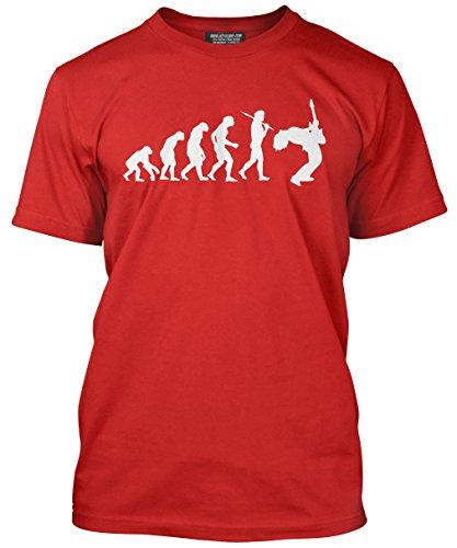 Amp Rote Marshall (HotScamp Premium Evolution eines Gitarristen Herren Guitar Player T-Shirt–Erwachsene, Teenager und Kinder erhältlich in verschiedenen Farben–Größen XS–3X L Gr. xxxl, Schwarz - Rot)