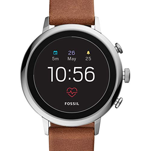 Fossil Damen Digital Smart Watch Armbanduhr mit Leder Armband FTW6014
