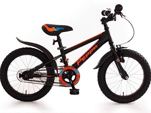 Bachtenkirch Kinderfahrrad 16 Zoll Jungen Fahrrad für Kinder ab 4 Jahre Mountainbike schwarz