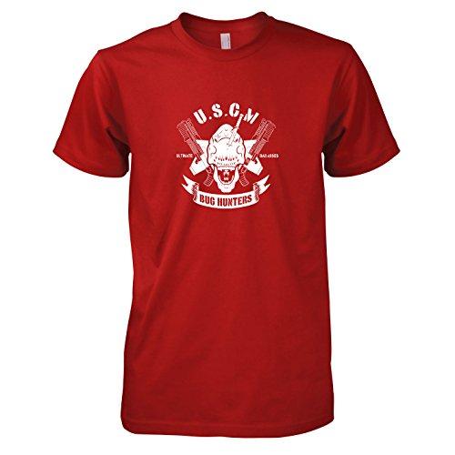 Hunter Kostüm Bug - TEXLAB - USCM Bug Hunters - Herren T-Shirt, Größe S, rot