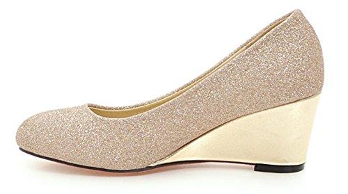 Alla Donna Aisun Chic Zeppa Paillettes Oro Caviglia Scarpe n44rwq5Y
