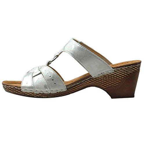 Jana 8-8-27213-24-100, Zoccoli donna bianco bianco 38 Bianco