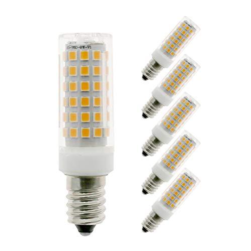 MENTA E14 LED Lampe Warmweiß 3000K mit 76 SMD LEDs, 9W Ersatz 75W Halogenlampen, 750LM, 360° Abstrahlwinkel, E14 LED Birne, 5er Pack
