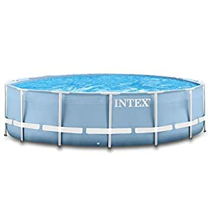 intex 366x122 cm schwimmbecken swimming pool schwimmbad frame metal 28904 garten. Black Bedroom Furniture Sets. Home Design Ideas