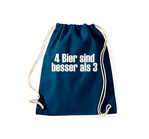 Turnbeutel 4 Beer È Meglio Di 3 Gymsack Cult Bag Navy