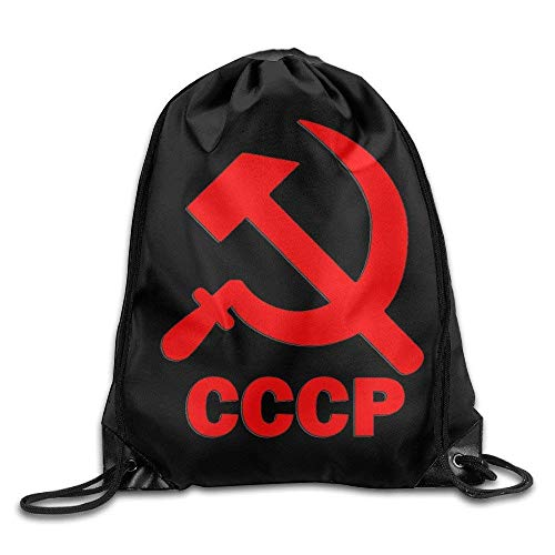 DHNKW CCCP Hammer And Sickle Travel Bag Drawstring Backpack/Rucksack