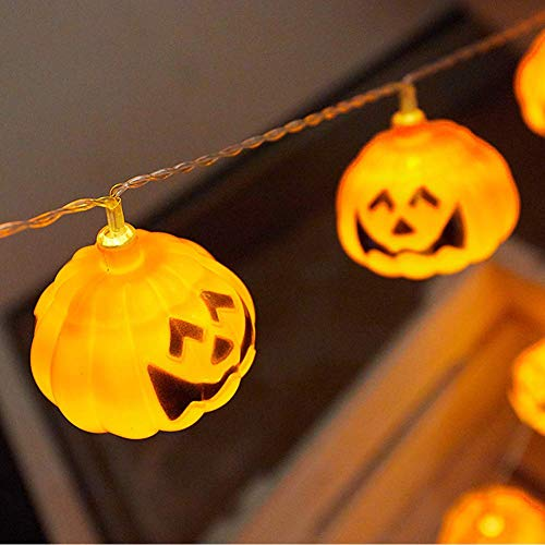 Halloween Pumpkin String Lights Wasserdicht,Kürbis Lichterketten für Halloween Dekorationen Lichter 3D Cosplay,Thema Parteien und Dekoration,for Festival Party,Home Bedroom Decoration DIY,3m20lamp