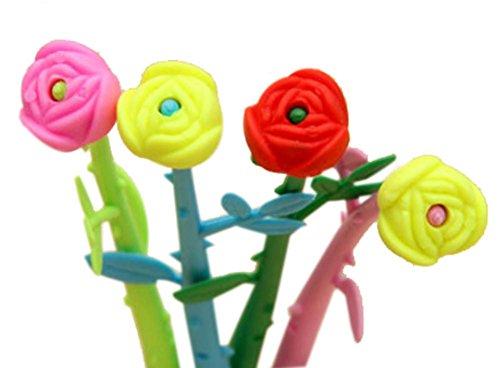 Set von 12 Rose-Gel-Feder mit Fragrance (Farbe Random)