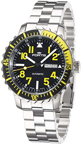Fortis gentles watch Maritime B-42 Marinemaster Day/Date Yellow automatic 670.24.14 M