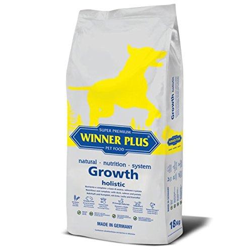 WINNER PLUS Growth holistic 18 kg - Nutriente e completo: a base di anatra, salmone e patate