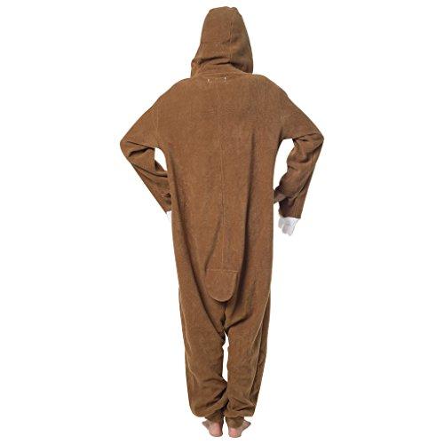 Katara 1744 -Fledermaus Kostüm-Anzug Onesie/Jumpsuit Einteiler Body für Erwachsene Damen Herren als Pyjama oder Schlafanzug Unisex - viele verschiedene Tiere Faultier