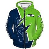 HFJLL NFL Sweatshirt Hoodies à Capuche 3D Creative Print S-5XL