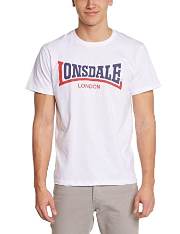 Lonsdale Two Tone - T-Shirt Homme, Blanc (weiß) - XX-Large (Taille fabricant: XXL (UK XL)