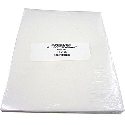 Tear Away Stabilizer Weiß 1,8 Unzen, 100 Precut Blätter 12