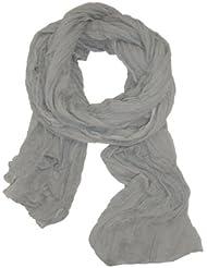 Chèche Écharpe Double Très Long 3 Mètres 100% coton Foulard gris clair perle