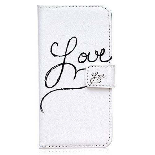 iPhone 6/6S Hülle im Bookstyle, Xf-fly® PU Leder Flip Wallet Case Cover Schutzhülle für Apple iPhone 6/6S (4.7 Zoll) Tasche Handytasche Schutz Etui Schale Handyhülle P-4