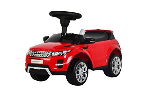 """Image of Ricco 348 """"Range Rover Evoque"""" Licensed Ride On Push Along Sliding Toy Sports Racing Car"""