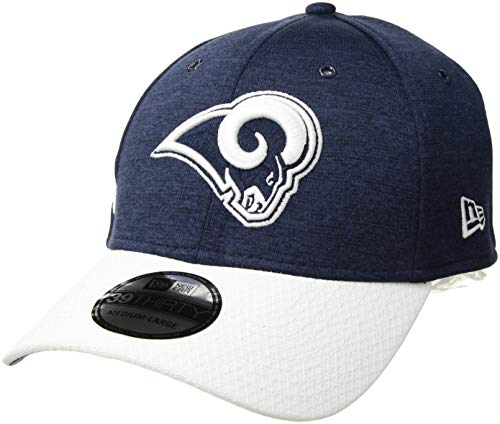 New Era NFL Los Angeles Rams Authentic 2018 Sideline 39THIRTY Stretch Fit Home Cap,...