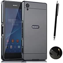 Funda Espejo Aluminio Metal Carcasa para Sony Xperia Z2 Color Negro