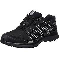 Salomon Men's XA Lite GTX Trail Running Shoes, Synthetic/Textile, Black (Black/Quiet Shade/Monument), Size: 40