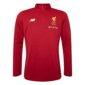 Balance Liverpool FC 2017 Men's 1/2 Zip Top, Red, M from New Balance