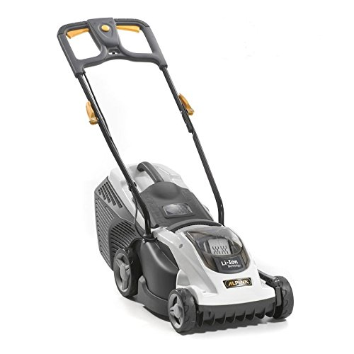 Alpina AL1 34 LI cortadora de césped - Cortacésped (Push lawn mower, Tambor, Batería, Foldable, Soft grip, Ión de litio, Negro, Color blanco)