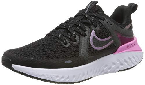 Nike Wmns Legend React 2, Zapatillas de Running para Asfalto para Mujer, Multicolor (Black/Cool Grey/Psychic Pink/White 004), 38 EU