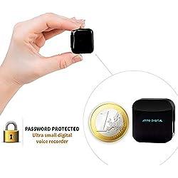 Grabadora de Voz Espia - Protegido Con Contraseña - 8GB/570 Horas de Capacidad - 20h Batería - Grabation activada por voz