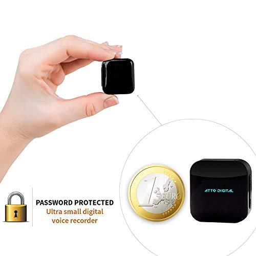 Mini Spionage Rekorder Stimmenaktivierter 8GB - 570 Stunden | HD Stimme 1536kbps | Stunden Batterie | Wählbare Aufnahmequalität