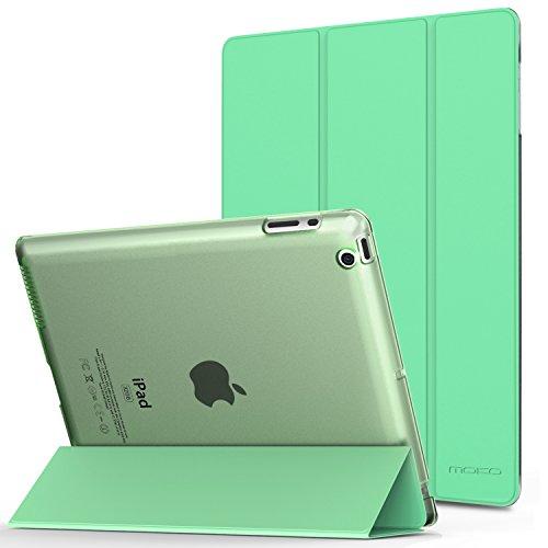 MoKo Hülle für iPad 2 / 3 / 4 - PU Leder Tasche Schale Smart Case mit Translucent Rücken Deckel, mit Auto Schlaf/Wach Funktion und Standfunktion für Apple iPad 2 - Gb 4. Generation 64 Ipad