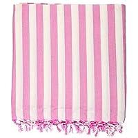 Walk Heart Cotton 249 TC Bedsheet (Standard_Pink::White)