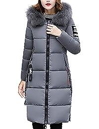 Femmes Manteau Chic Hiver Grande Taille Chaud Coupe-Vent Long, QinMM Veste  à Capuche Fluff Slim Épais Zipper Laine Fourrure… 0e9db0df10d