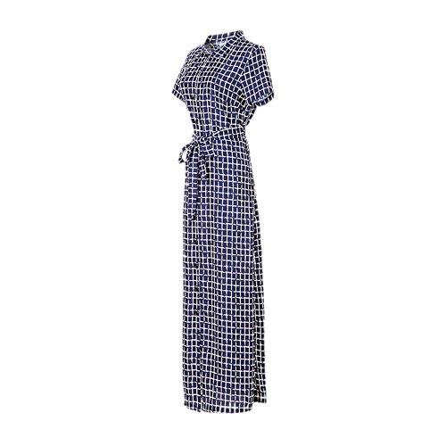 DISSA VDN95 femme mode 2018 Robe de Soiree Robe de Maxi Bleu