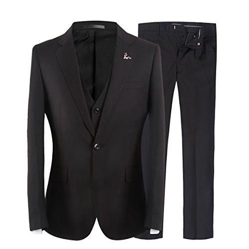 3 Teilig Herren Hochzeitsanzug Slim Fit ein Knopf Herrenanzug Business Party