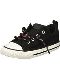 8b56310e60 Converse 761976F, Sneaker Bambini Black/Enamel Red/White