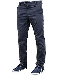bc6ebbdc218d2 Jeans Hommes Chino Stallion Bas Pantalon Slim Moulant Décontracté Designer  Neuf