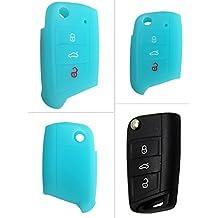 CK + Seat Auto de llave móvil Key Cover Case Funda Silicona para Ibiza Leon Alhambra Altea Toledo