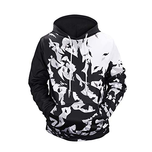 GLJY Unisex Taschen 3D Pullover Bluse, All Over Printed Drawstring Pocket Sweatshirts Hoodies, Hemden L-3XL,B,M -