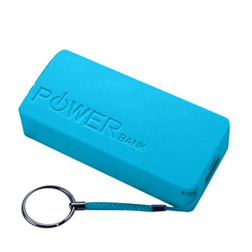 Preisvergleich Produktbild Jaminy Neue 5600mAh 2X 18650 USB-Energien-Bank-Aufladeeinheits-Fall DIY Kasten für iPhone Sumsang (Blau)