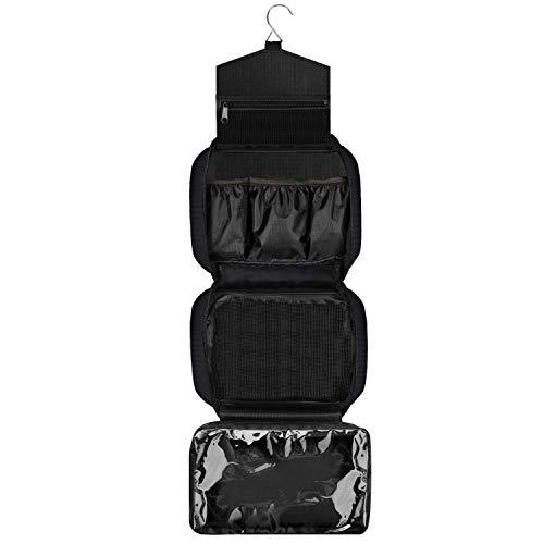 Beauty case da viaggio,borsa da toilette, kit da viaggio organizer per trucco, bagno e doccia, borsa impermeabile con supporti elastici per articoli da toeletta, cosmetici, trucco, spazzole, per uomo