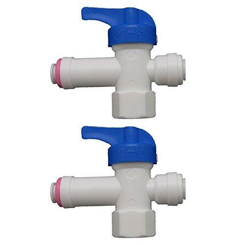 2-tank-system (Pxyelec 1/10,2cm Shut Off Ventil Tank für 1/10,2cm Umkehrosmose Wasser Filter System, Wasser Rohr Tubing 2Stück)