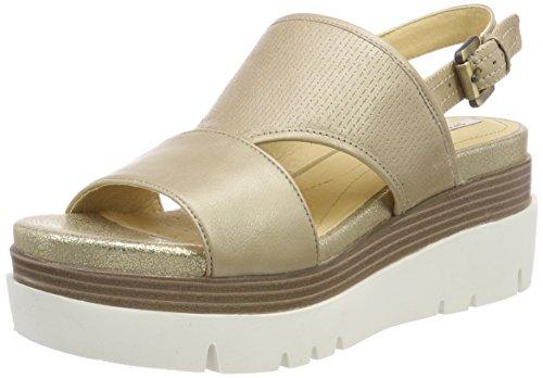 Geox d radwa b, sandali con zeppa donna, beige (lt taupe), 41 eu