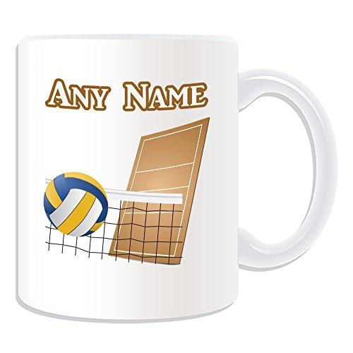 Regalo personalizzato-Pallavolo Tazza (Sport, motivo design, colore: bianco, qualsiasi nome/Messaggio Sulla Tazza-Ball Coppa del